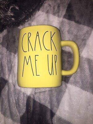 Rae Dunn CRACK ME UP Yellow Mug Easter Spring NEW 2020