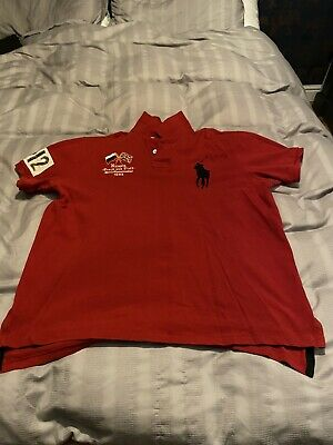 Polo Ralph Lauren Polo Shirt Custom Fit XL In Red