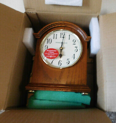 NOS Oak Howard Miller Mantel Clock Westminster Chime # 635-121 Still in Box