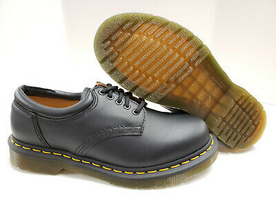 NIB Dr Martens 5 eyelet 8053 Lace-Up Shoes Black Nappa Leather 11849001