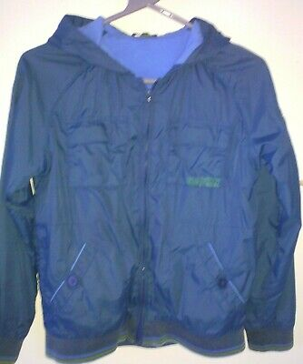 Boys Blue Lined Hooded Zipped Coat Jacket Ted Baker Size 13 Years