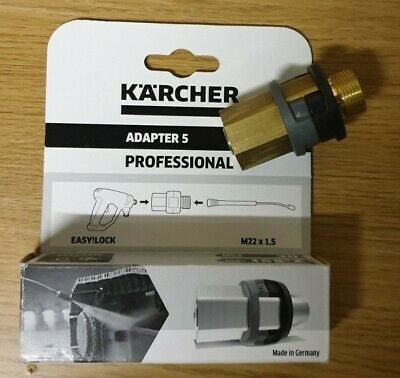 New Karcher Adapter 5 - M22 X 1.5 - Easy!Lock
