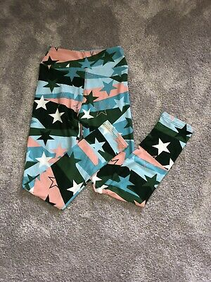 Never Worn Lularoe Kids Tween 8-12 Leggings Military Stars