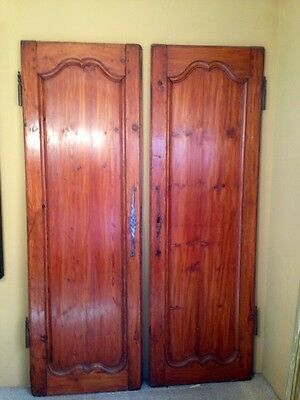 Antique 1780's to1830's Country Chateau Armoire Pine Doors Wall Panels RARE!