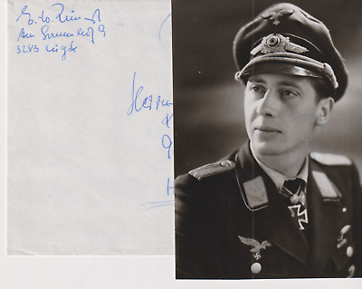 Signed photo Luft ace Oblt. Ernst-Wilhelm Reinert - Knights Cross with Oakleaves