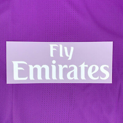 2016-17 Real Madrid Fly Emirates (White) Player Issue Sponsor Patch for Shirt...