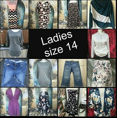 BIG Bundle create your own LADIES CLOTHING SIZE 14 skirt dress jeans tops jacket