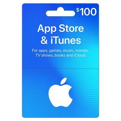 Apple App Store & iTunes $100 Gift Card | 100 USD Gift Card
