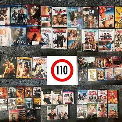 HUGE collection of movies dvds / blu ray action comedy romance Bundle create you