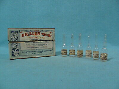 Digalen Roche Ampules in Box - POISON - Hoffman La Roche Chemical Works New York