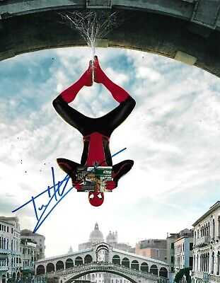 Tom Holland Signed Spider-Man: Far From Home 10x8 Photo AFTAL *FULL SIGNATURE*