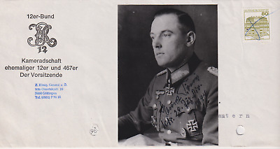 SP & letter Heer Generalmajor Ernst Konig -Knights Cross with Oakleaves