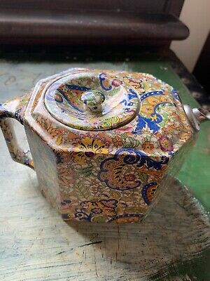Paisley Antique Collectable teapot - unusual original rare