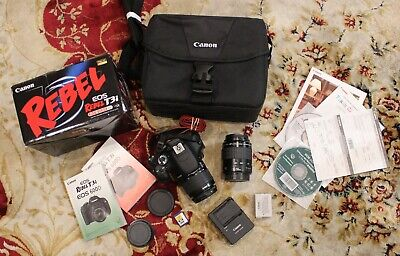 Canon EOS Rebel T3i / EOS 600D 18.0MP DSLR Camera - 18-55 III + 80-200 lenses