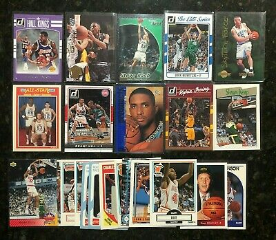 NBA Basketball card lot - collection of 23 stars, inserts, rookies, HOF   NM-MT