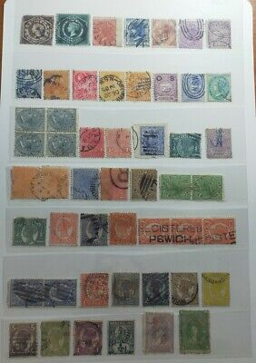 Estate Collection of Australian Pre Decimal State Stamps NSW & QLD Unchecked
