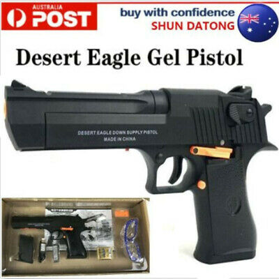 Nylon Electric Desert Eagle Gel Ball Blaster Toy Pistol 7-8mm Water Bullet Gun