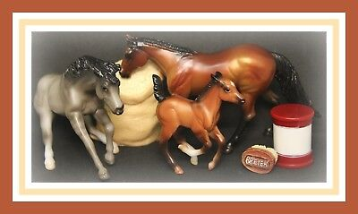 ❤Breyer Horse Stablemate Mystery Foal Surprise Family 9 #5386 Grullo Reiner Lot❤