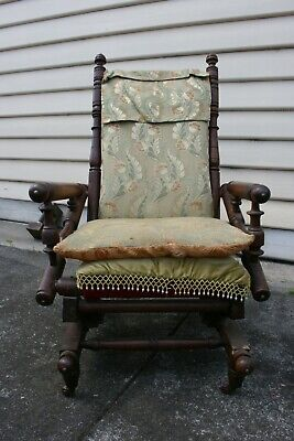 Antique rocking chair - On Castors.  Restore or use as is