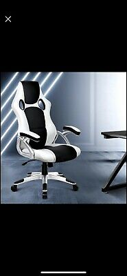 Artiss Racing Recliner Executive Gaming Office Chairs - Black & White