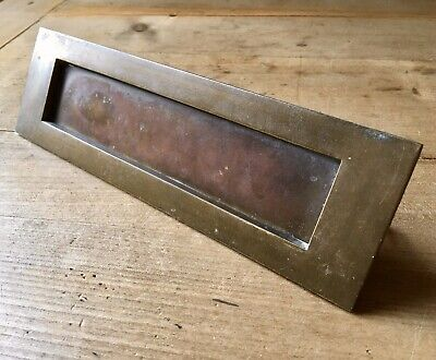 Vintage Brass Letterbox Door Reclaimed Salvage Old Original
