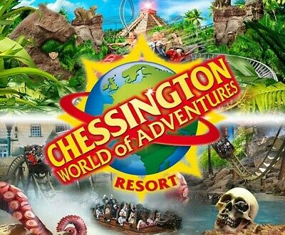Chessington World of Adventure tickets X2 for Saturday 8th August school hols