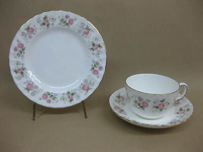 Minton Spring Bouquet Cup, Saucer & Plate / Trio ~1st ~ English Fine Bone China