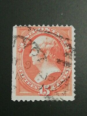 U.S.A. Stamps Issue  15 Cents Webster Duplex Town Cancel F/VF/Used.