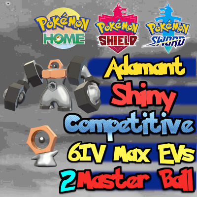 Shiny Meltan & Melmetal Bundle 6IV Max EVs / Pokemon Home Sword & Shield Adamant