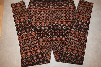 LuLaRoe one size,multicolored brown/black,NWOT, polyester/spandex,leggings