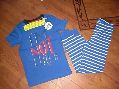 Bnwt Boys Kipwell I'm Not Tired Striped Summer Pyjamas Pjs  Age 6 Yrs.rrp £24.95