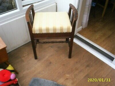 Lovely Vintage Piano Stool - with lift up lid providing music storage