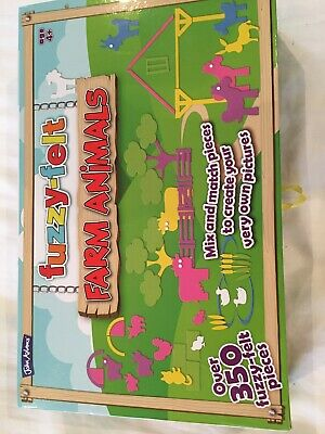 FUZZY FELT FARM ANIMALS Deluxe SET John Adams over 350 pieces