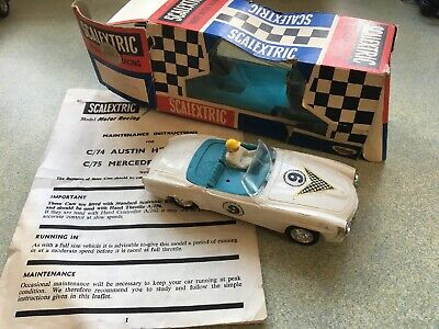Vintage Scalextric Mercedes Benz 190Sl C75 Triang Working Boxed