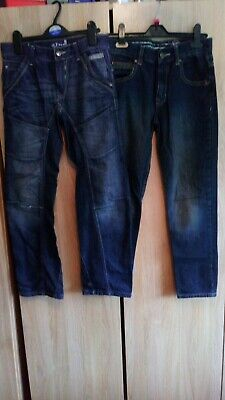 Two Pairs Of Boys Blue Zoo Jeans To Fit Age 11yrs