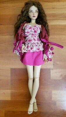 1//3 bjd SD13 SD16 girl doll lace red high-heel shoes Supia Smart feeple luts