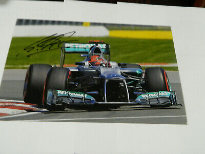 F1 MICHAEL SCHUMACHER  HAND SIGNED IN PERSON picture 9