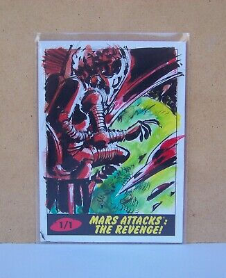 2017 Topps Mars Attacks Revenge Martians Approaching Sketch card Lowell Isaac #2