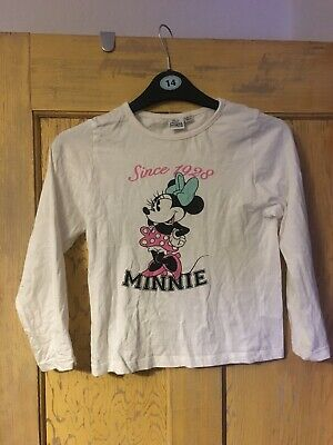 Primark girls Minnie Mouse long sleeve pyjama set age 8-9 years