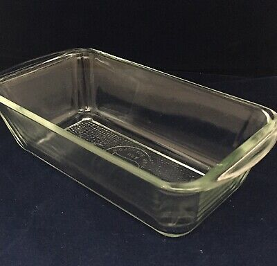 Glass Dish for Ekco Hostess - Genuine 'Glasbake USA'  item with dimpled bottom