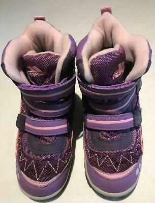 Size UK10/EU28 Kids Trespass Purples Nylon Snow Boots