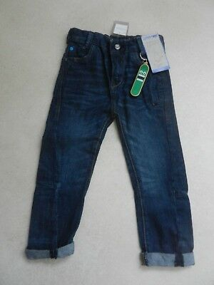 BNWT Next Boys Trendy Tapered Twist Jeans + Keyring Age 4 Years Adjustable Waist