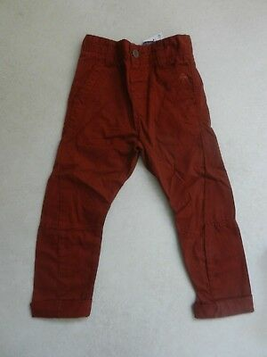 BNWT Next Boys Turmeric Skinny Twist Chino Trousers Age 4 Years Adjustable Waist