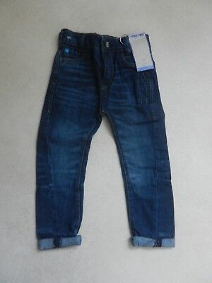 BNWT Next Boys Trendy Tapered Twist Jeans Age 3 Years Adjustable Waist