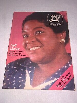 Rare 1983 NELL CARTER Chicago Tribune TV WEEK Guide NELL CARTER Gimme A Break