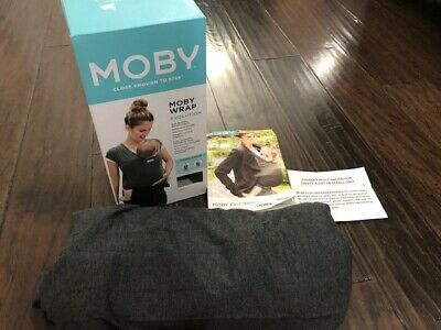 Moby Wrap Evolution Baby Carrier Charcoal Gray Newborn to Toddler 8-33 lbs Soft