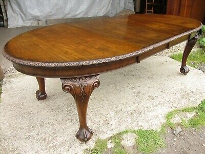 Edwardian mahogany oval screw extending dining table (ref 776)