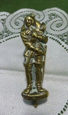 RARE Vintage Solid Brass Door Knocker Oliver Cromwell