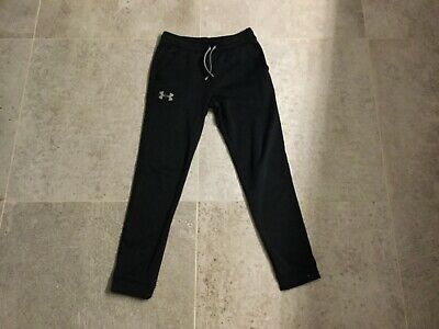 Boys Under Armour tracksuit bottoms. Black. Size YLG age 12/14 years.  Fab cond.