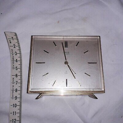 Vintage ORIS 7 Jewels 8 Day Mantle Alarm Clock - SWISS MADE